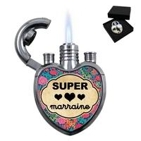 Briquet coeur Super marraine