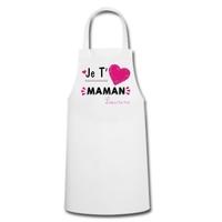 Tablier de cuisine femme Je t'aime maman personnalisé avec prénom en signature