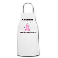 Tablier de cuisine Apprentie cuisinire personnalisé avec prénom