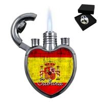Briquet coeur Espagne personnalisé avec le prénom de votre choix