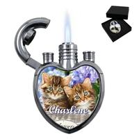 Briquet coeur Chaton personnalisé avec le prénom de votre choix