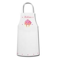 Tablier de cuisine Cupcake personnalisé avec prénom
