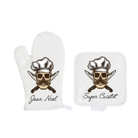 Gant et manique de cuisine Super cuistot personnalisé avec prénom
