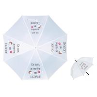 Parapluie Adulte Licorne personnalisé avec prénom