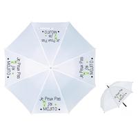 Parapluie Adulte humour Je peux pas j'ai MOJITO
