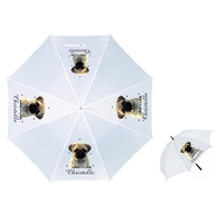Parapluie Adulte Chien carlin personnalisé avec prénom
