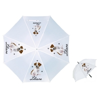 Parapluie Adulte Chiot Jack russel  personnalisé avec prénom