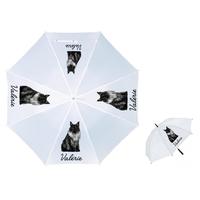 Parapluie Adulte Chat Main coon  personnalisé avec prénom