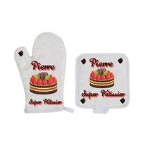 Gant et manique de cuisine Super pâtissier personnalisé avec prénom