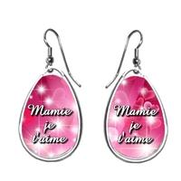 Boucles d'oreilles Mamie Je t'aime