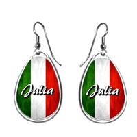Boucles d'oreilles Italie personnalisées avec prénom