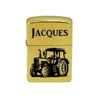 Briquet essence Tracteur personnalisé avec le prénom de votre choix
