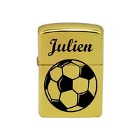 Briquet essence Football personnalisé avec le prénom de votre choix