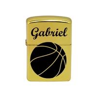 Briquet essence Basketball personnalisé avec le prénom de votre choix