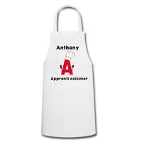 Tablier de cuisine Apprenti cuisinier personnalisé avec prénom