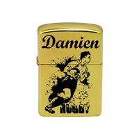 Briquet essence Rugby personnalisé avec le prénom de votre choix