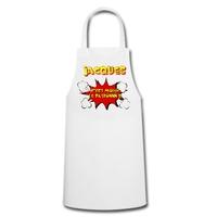 Tablier de cuisine humour C'est moi le patron !  personnalisé avec prénom