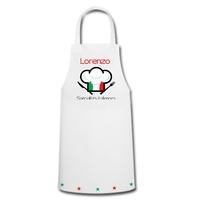 Tablier de cuisine Spécialités italiennes Italie personnalisé avec prénom