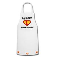 Tablier de cuisine Super parrain personnalisé avec prénom