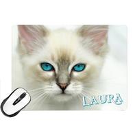 Tapis de souris Chat Chaton personnalisé avec prénom