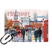 Tapis de souris Anglais Londres London personnalisé avec prénom