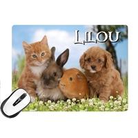 Tapis de souris Animaux de compagnie personnalisé avec prénom