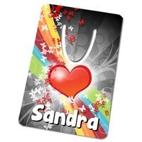 Marque-page Coeur personnalisé avec prénom