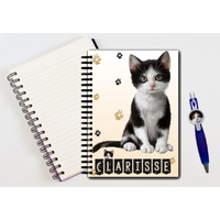 Cahier à spirales Chat Chaton Cat personnalisé avec le stylo assorti