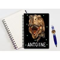 Cahier à spirales Dinosaure personnalisé avec le stylo assorti