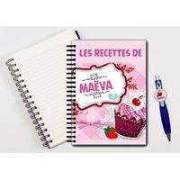 Cahier à spirales Cupcake personnalisé avec le stylo assorti