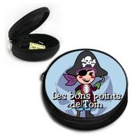 Poche à bons points Pirate personnalisée avec prénom