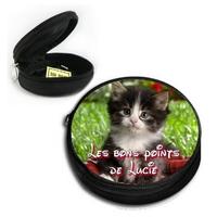 Poche à bons points Chat chaton personnalisée avec prénom