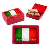 Boite à goûter Italie personnalisée avec votre texte