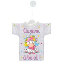 Mini tee shirt ventouse Bébé Licorne à bord personnalisé avec prénom