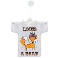 Mini tee shirt ventouse Bébé Renard boho à bord personnalisé avec prénom