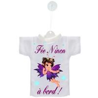 Mini tee shirt ventouse Bébé Fée à bord personnalisé avec prénom