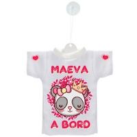 Mini tee shirt ventouse Bébé Panda fille à bord personnalisé avec prénom