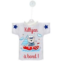 Mini tee shirt ventouse Bébé Ourson marin à bord personnalisé avec prénom