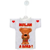 Mini tee shirt ventouse Bébé Ourson garçon à bord personnalisé avec prénom