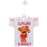 Mini tee shirt ventouse Bébé Ourson fille à bord personnalisé avec prénom