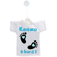 Mini tee shirt ventouse Bébé garçon à bord personnalisé avec prénom