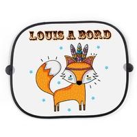 Pare soleil pour voiture Renard Boho personnalisé avec votre texte