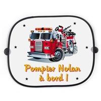 Pare soleil voiture Pompier à bord personnalisé avec prénom