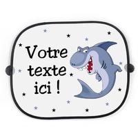 Pare soleil voiture Requin rigolo personnalisé avec votre texte