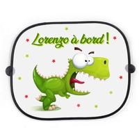 Pare soleil pour voiture Dino rigolo Dinosaure personnalisé avec votre texte
