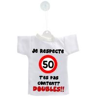 Mini tee shirt voiture Humour  50 km/h je respecte....