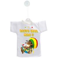 Mini tee shirt voiture Humour  RASTA Reste cool man