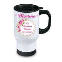 Tasse isotherme La meilleure mamie personnalisée avec prénom