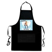 Tablier de cuisine noir Super Parrain personnalisé avec prénom
