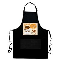 Tablier de cuisine noir Le meilleur papy personnalisé avec prénom